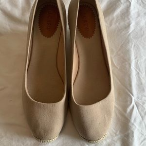 J Crew tan canvas wedges. Size 11